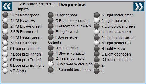 LE220 Sealer HMI Diagnostics